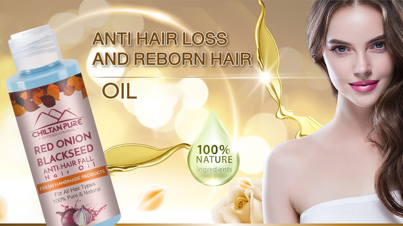 Hair Care for Healthy Stands with Red Onion Black Seed Oil