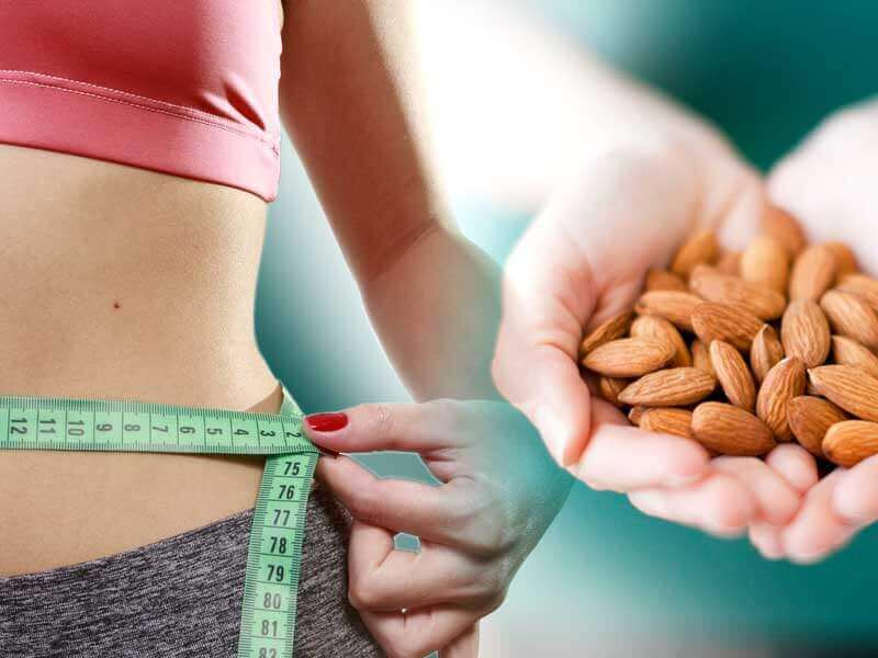 almond reduces weight